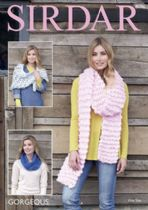 Sirdar Gorgeous - 8096 Wrap, Snood & Scarf Knitting Pattern